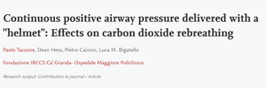 Continuous Positive Airway Pressure Delivered with a helmet: Effects on carbon dioxide rebreathing