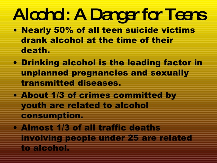 Teens: Dangers of Alcohol