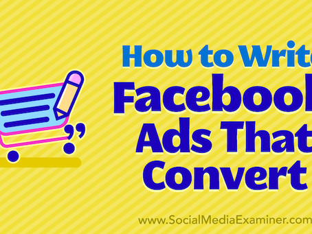 How to Write Facebook Ads That Convert - #SocialMedia #Social #PaidSocial #FacebookAds #FB #Facebook