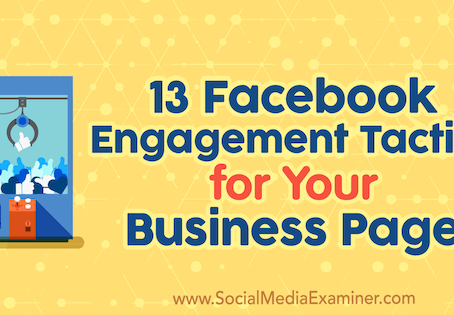 #Social #SocialMedia #SocialMediaOptimisation #Facebook #FB #BusinessPage - 13 Facebook Engagement T