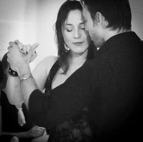 Jaimes and Johana Copes performing tango