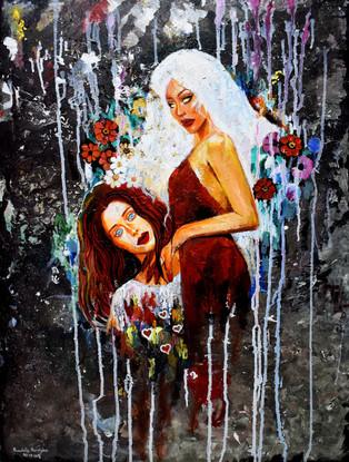 Beauty Wars - Acrylic on Canvas