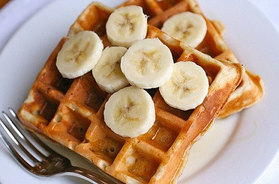 Mother's Day Special:  Banana Bread Waffles!