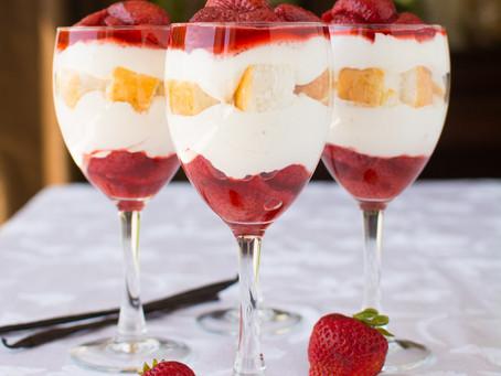Spring Recipe for Roasted Strawberry Shortcake Parfaits