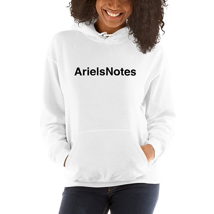 Unisex ArielsNotes White Hoodie