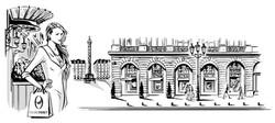 Illustration-luxe-vendome-shopping-vitrine-mode-paris-joelliochon