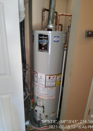 Water heater replaced