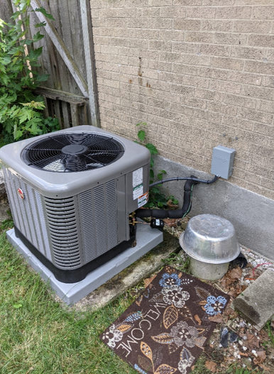 Air conditioner ready to cool the home
