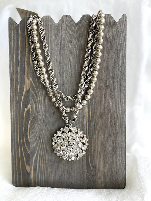 Made in the Deep South Weiss Brooch Necklace