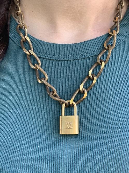 Louis Vuitton Luggage Lock Necklace-Junkyard Chic Chain