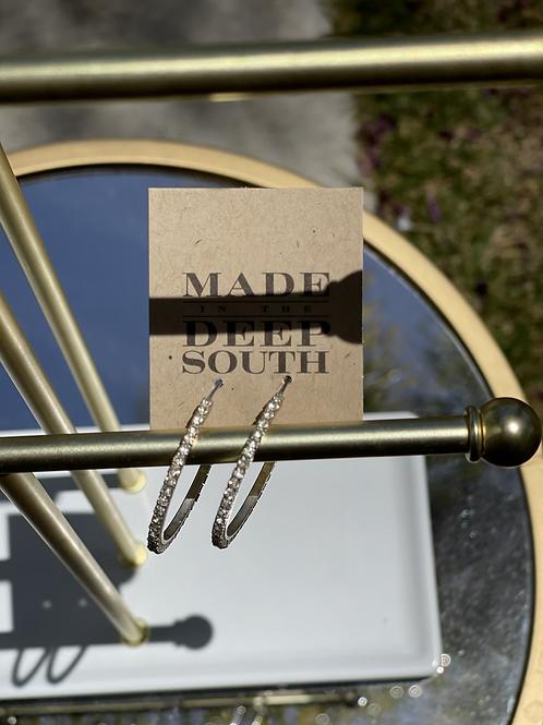 Made in the Deep South Vintage Hoop Earrings