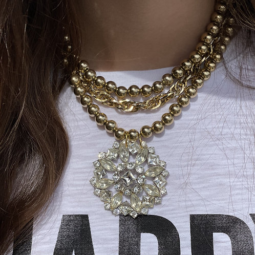 Made in the Deep South Necklace Gold Beads
