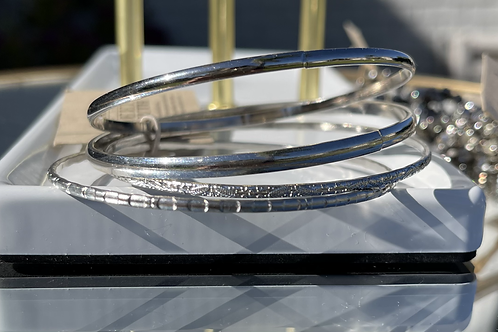 Made in the Deep South Vintage Bangle Set-Silver