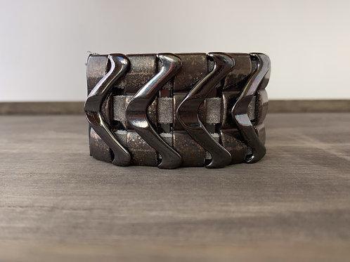 Leatherock Gunmetal Cuff