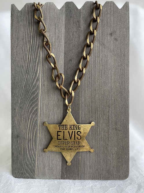 Made in the Deep South Elvis Badge Necklace