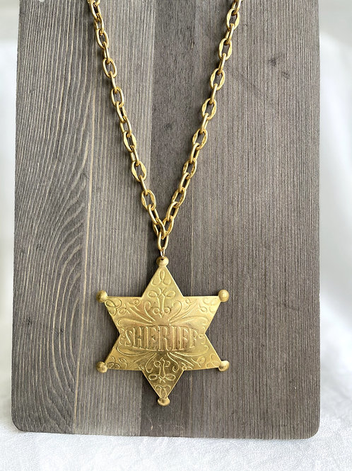 Made in the Deep South Sheriff Badge Necklace