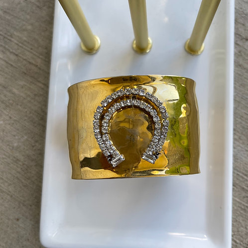 Made in the Deep South Gold Horseshoe Cuff