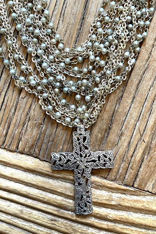 Made in the Deep South Sterling Silver Cross Necklace