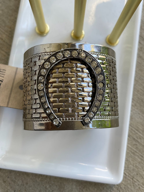 Made in the Deep South Silver Horseshoe Cuff