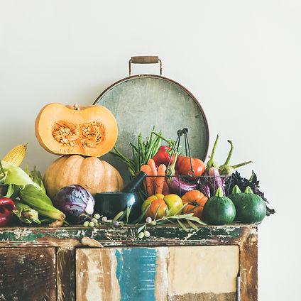 fall-vegetarian-food-ingredients-variety