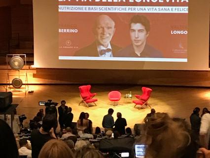 Conferenza 20 giugno 2019 La via della longevità? prof Franco Berrino prof Valter Longo