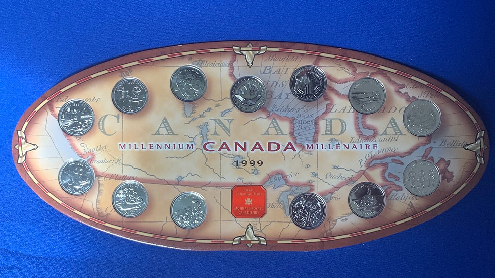 Royal Canadian Mint 1999 Millennium Quarters