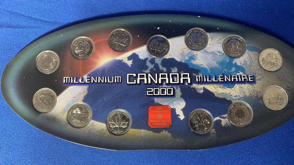Royal Canadian Mint 2000 Millennium Quarters
