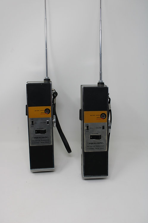 Pair Realistic TRC-25A CB Transceiver 2 Channel