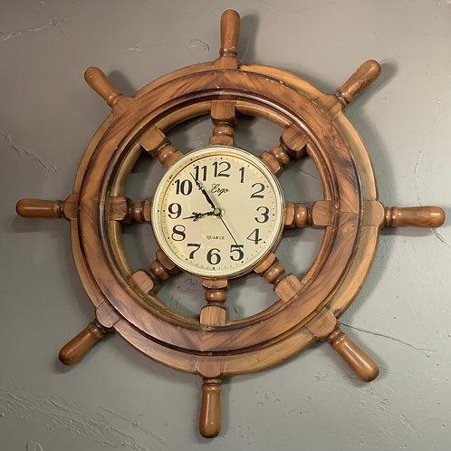 Nautical Theme Clock walnut