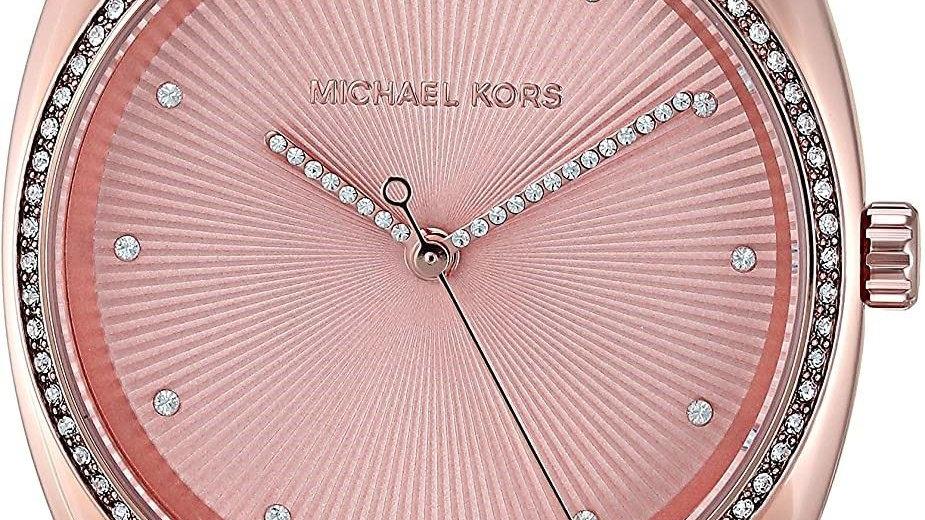 Michael Kors Rose Gold & Crystal Studded