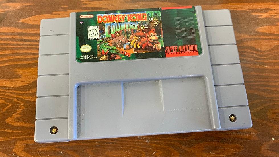 Donkey Kong Country Super Nintendo Game