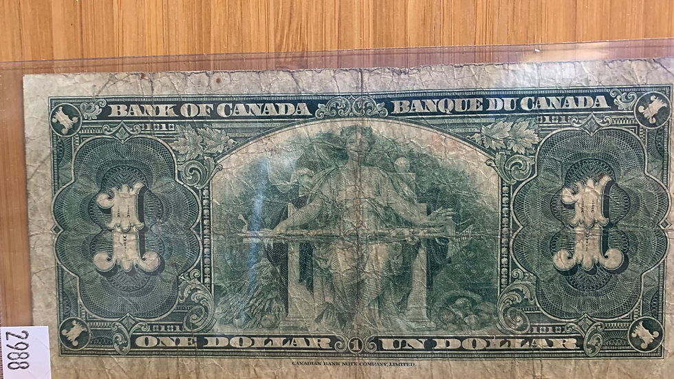 Bank of Canada one dollar note 1937