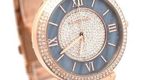 Michael Kors  Lauryn Mother of Pearl & Crystal Rose Gold