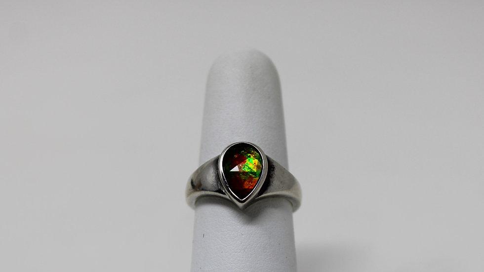 Korite .925 Sterling Silver with Teardrop Ammolite