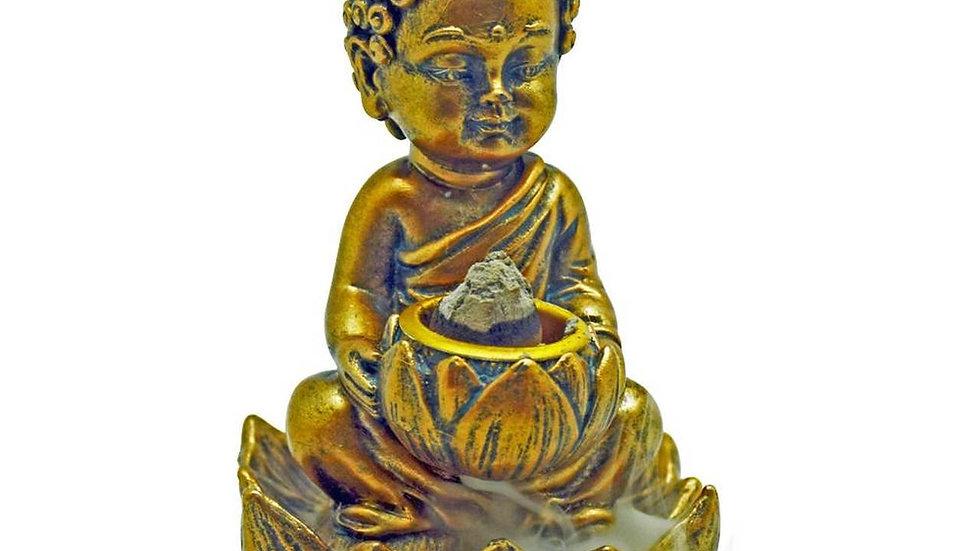 Baby Buddha backflow incense burner