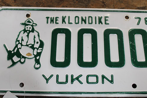 Yukon Sample Plate 1978
