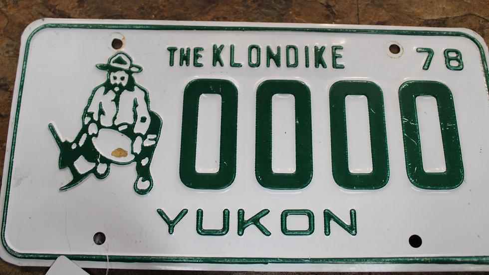 Yukon Sample Plate 1978