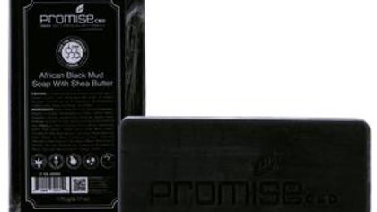 CBD by PROMISE African Black Mud Soap with Shea Butter