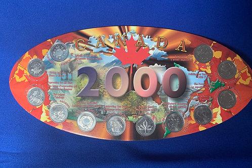Royal Canadian Mint 2000 Quarters uncirculated