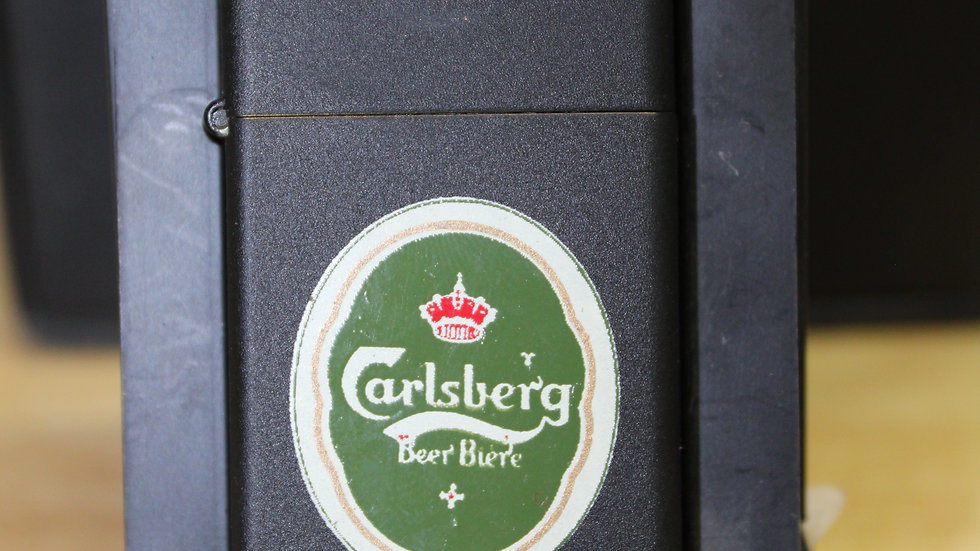 Vintage Zippo - New Old Stock 1985 Carlsburg Beer USA Made