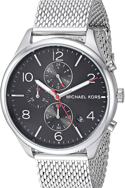 Michael Kors Triple Chrono Black & Steel Mesh