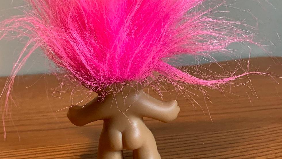 Treasure Troll pink fluff