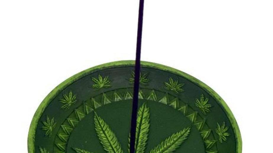 Round leaf incense burner