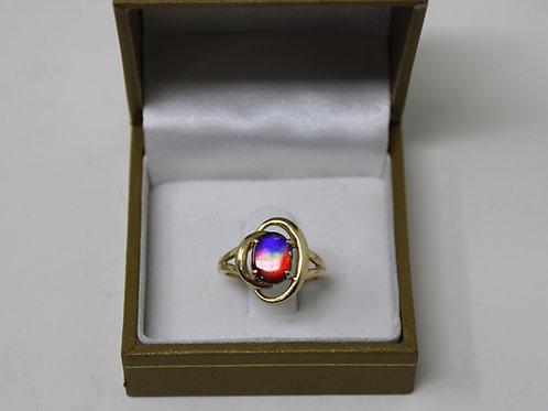 Korite 14kt Rosalind Ammolite Ring Size 6.5