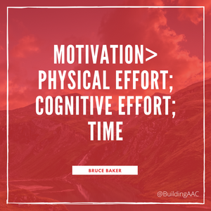 Motivation is greater than physical effort; cognitive effort, time