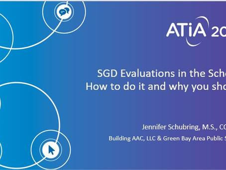 SGD Evaluations in the Schools: How to do it and why you should!