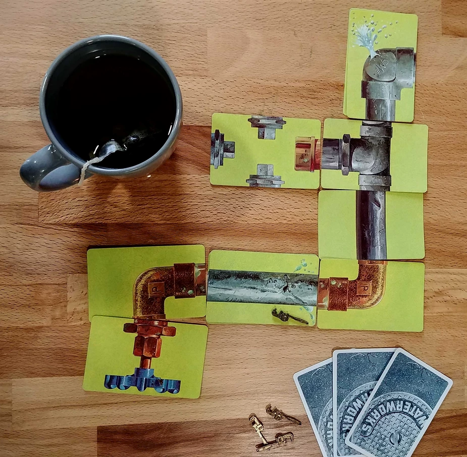 Image of the 1972 board game, Waterworks