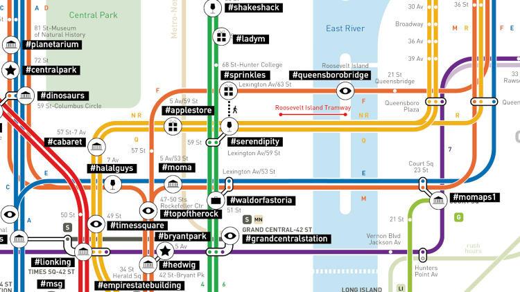 New York Instagram tube map