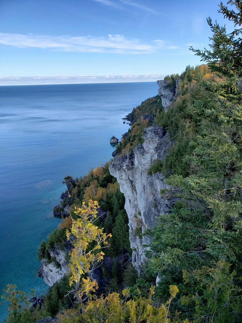 A rock cliff in Lion's Head, Ontario where Cat's Cove's Bonnie and her husband were rock climbing
