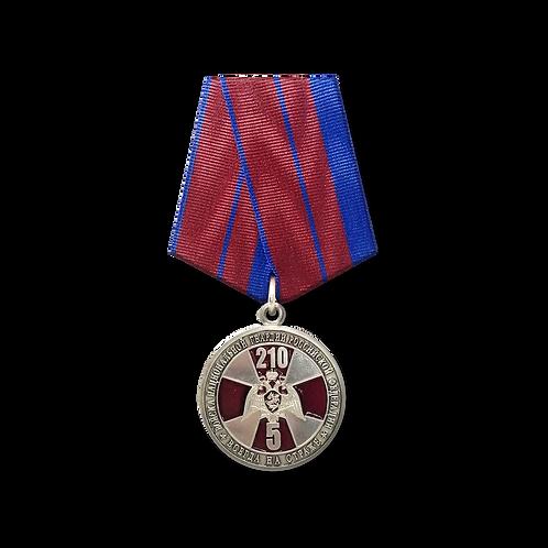 «5 лет ФС ВНГ РФ и 210 лет войскам правопорядка России » (медаль)